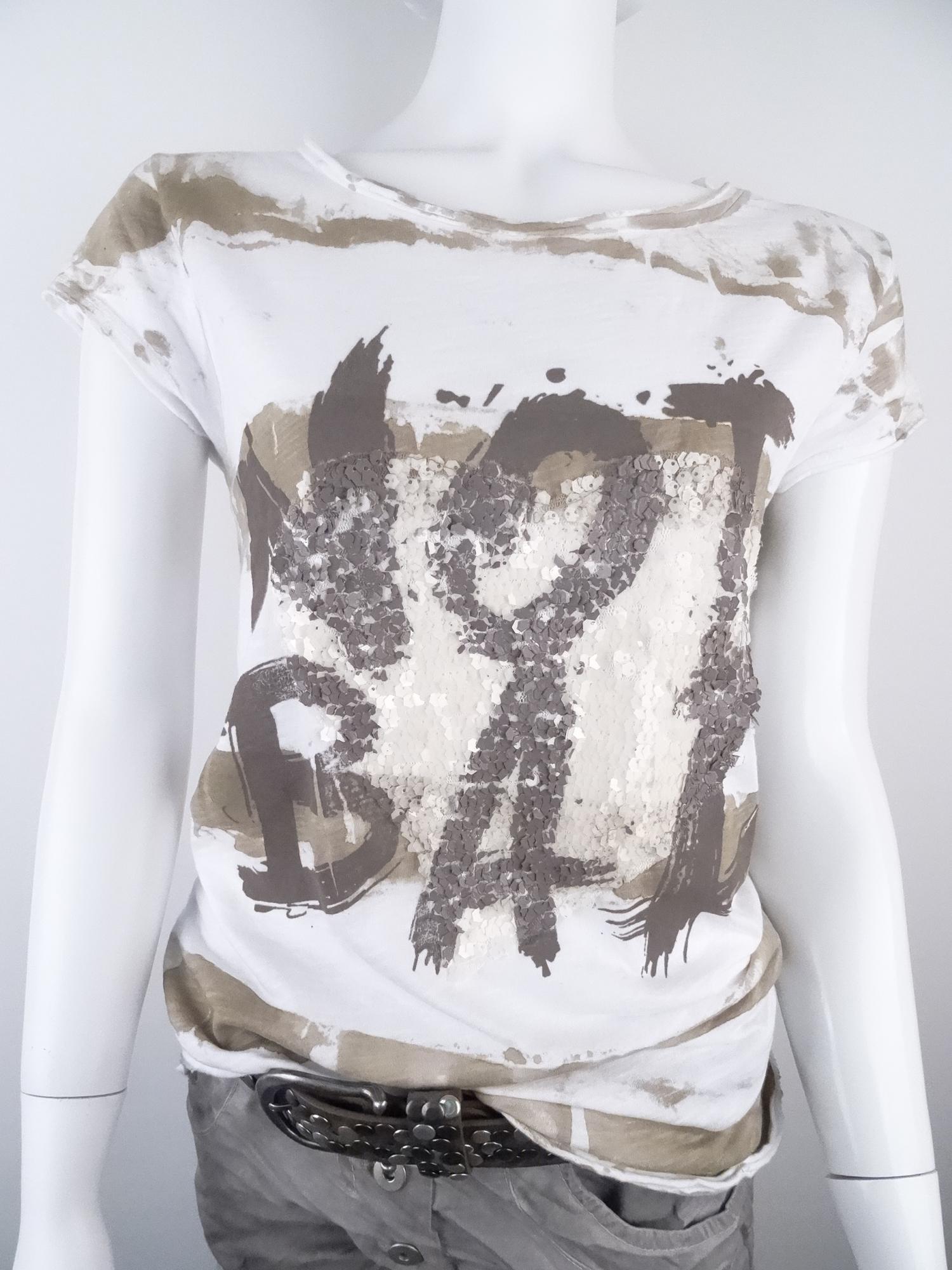 simsal mode kurzarmshirt mit pailletten herz online kaufen. Black Bedroom Furniture Sets. Home Design Ideas
