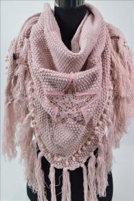XL Dreieck Schal/Cape/Stola rosa