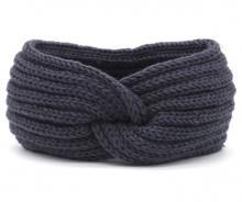 Strick Stirnband / Ohrenwärmer Blau