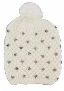 Kuschelige Bommelmütze Weiß