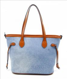 "Shopper ""Denim"" blau/braun"
