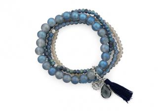 "Armband Lizas ""Blue Moon"" Blau/Grau"