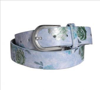 "Gürtel ""Blume"" blau"