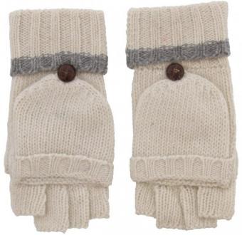 Kurzfingerhandschuhe Creme/Weiß