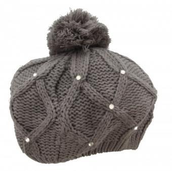 Modische Mütze Grau
