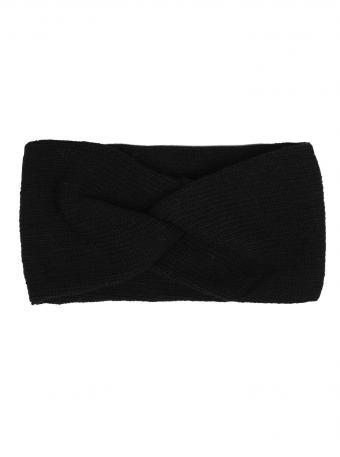 Strick-Stirnband / Ohrenwärmer schwarz